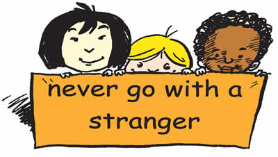 Image result for stranger danger for kids